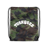 Camo Drawstring Backpack-Arched Tuskegee