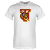 White T Shirt-TU Warrior Symbol