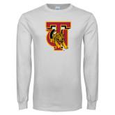 White Long Sleeve T Shirt-TU Warrior Symbol