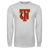 White Long Sleeve T Shirt-Interlocking TU