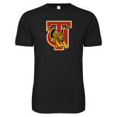 Next Level SoftStyle Black T Shirt-TU Warrior Symbol