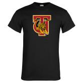 Black T Shirt-TU Warrior Symbol