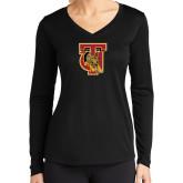 Ladies Syntrel Performance Black Longsleeve Shirt-TU Warrior Symbol