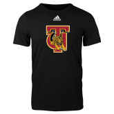 Adidas Black Logo T Shirt-TU Warrior Symbol