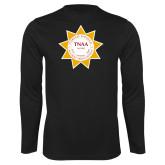 Performance Black Longsleeve Shirt-Alumni Association