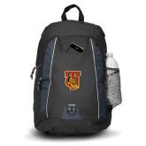 Impulse Black Backpack-TU Warrior Symbol