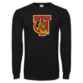 Black Long Sleeve T Shirt-TU Warrior Symbol