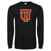 Black Long Sleeve T Shirt-Interlocking TU