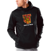 Under Armour Black Armour Fleece Hoodie-Track and Field