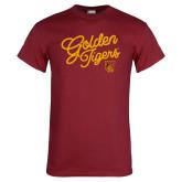 Cardinal T Shirt-Golden Tigers Script