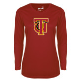 Ladies Syntrel Performance Cardinal Longsleeve Shirt-Interlocking TU
