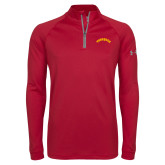 Under Armour Cardinal Tech 1/4 Zip Performance Shirt-Arched Tuskegee