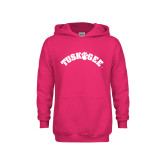 Youth Raspberry Fleece Hoodie-Arched Tuskegee