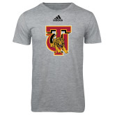 Adidas Sport Grey Logo T Shirt-TU Warrior Symbol