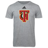 Adidas Sport Grey Logo T Shirt-Interlocking TU