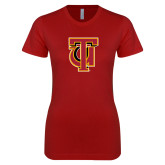 Next Level Ladies SoftStyle Junior Fitted Cardinal Tee-Interlocking TU