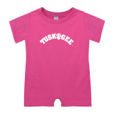 Bubble Gum Pink Infant Romper-Arched Tuskegee