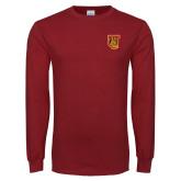 Cardinal Long Sleeve T Shirt-TU Warrior Symbol