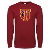 Cardinal Long Sleeve T Shirt-Interlocking TU