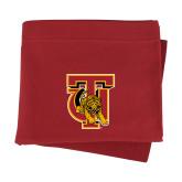 Cardinal Sweatshirt Blanket-TU Warrior Symbol