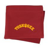 Cardinal Sweatshirt Blanket-Arched Tuskegee