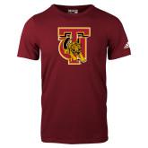 Adidas Cardinal Logo T Shirt-TU Warrior Symbol