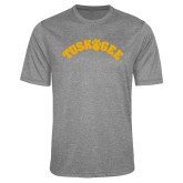 Performance Grey Heather Contender Tee-Arched Tuskegee