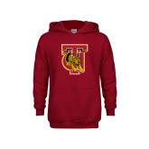 Youth Cardinal Fleece Hoodie-TU Warrior Symbol