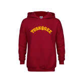 Youth Cardinal Fleece Hoodie-Arched Tuskegee