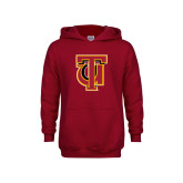 Youth Cardinal Fleece Hoodie-Interlocking TU
