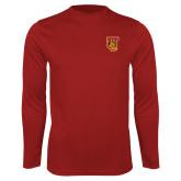 Performance Cardinal Longsleeve Shirt-TU Warrior Symbol