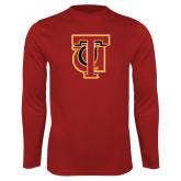 Performance Cardinal Longsleeve Shirt-Interlocking TU