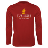 Performance Cardinal Longsleeve Shirt-University Mark