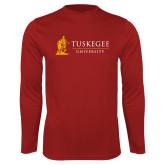Performance Cardinal Longsleeve Shirt-University Mark Flat