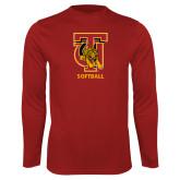 Performance Cardinal Longsleeve Shirt-Softball