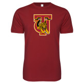 Next Level SoftStyle Cardinal T Shirt-TU Warrior Symbol