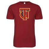 Next Level SoftStyle Cardinal T Shirt-Interlocking TU