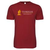 Next Level SoftStyle Cardinal T Shirt-University Mark Flat