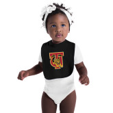Black Baby Bib-TU Warrior Symbol