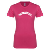 Next Level Ladies SoftStyle Junior Fitted Fuchsia Tee-Arched Tuskegee