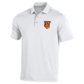 Under Armour White Performance Polo-TU Warrior Symbol