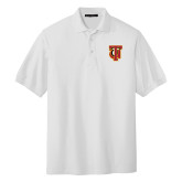 White Easycare Pique Polo-Interlocking TU