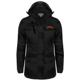 Ladies Black Brushstroke Print Insulated Jacket-Arched Tuskegee