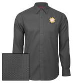 Red House Dark Charcoal Diamond Dobby Long Sleeve Shirt-Alumni Association