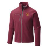 Columbia Full Zip Cardinal Fleece Jacket-TU Warrior Symbol