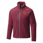 Columbia Full Zip Cardinal Fleece Jacket-Interlocking TU