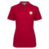 Ladies Easycare Cardinal Pique Polo-Alumni Association