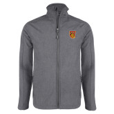 Grey Heather Softshell Jacket-TU Warrior Symbol