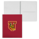 College Spiral Notebook w/Clear Coil-TU Warrior Symbol
