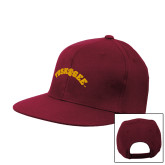 Maroon Flat Bill Snapback Hat-Arched Tuskegee